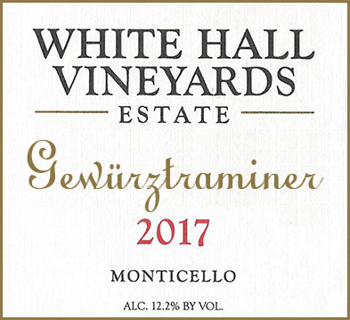 White Hall Vineyards Estate Gewurztraminer
